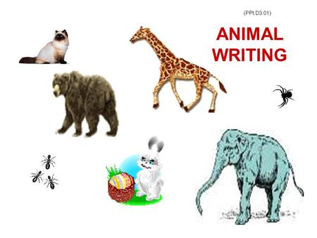 (PPt.D3.01) ANIMAL WRITING. (H/O.D3.02.(1).L.3) Look at the picture below carefully. You must use ALL the words given to make sentences. Write the sentences.