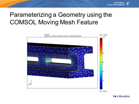 Parameterizing a Geometry using the COMSOL Moving Mesh Feature
