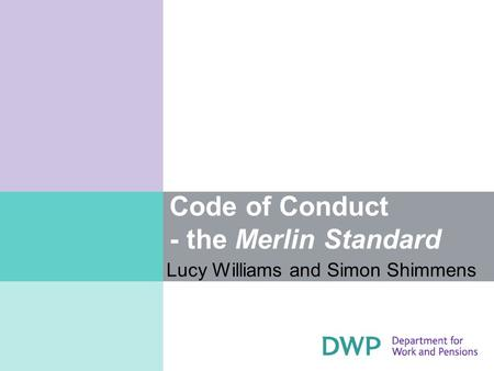 Code of Conduct - the Merlin Standard