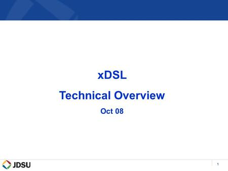 1 xDSL Technical Overview Oct 08. 2 DSL Market Drivers & Enablers Service Provider Drivers  Telco's desire to compete with Cable companies  Additional.