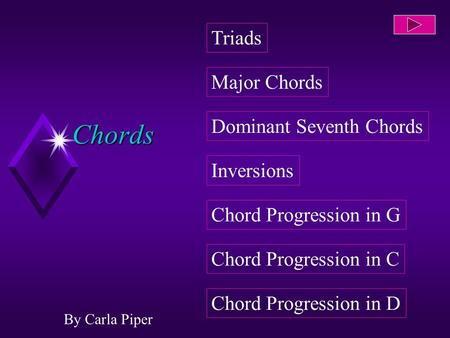 Chords By Carla Piper Dominant Seventh Chords Inversions Chord Progression in G Chord Progression in C Chord Progression in D Major Chords Triads.