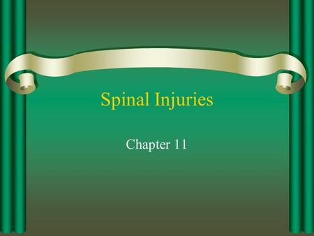 Spinal Injuries Chapter 11.