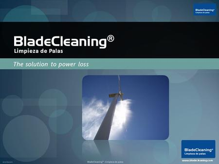 Enviria.com BladeCleaning® - Limpieza de palas The solution to power loss BladeCleaning ® www.bladecleaning.com Limpieza de Palas.