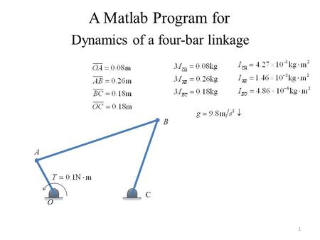 Dynamics of a four-bar linkage