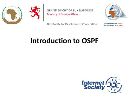 Introduction to OSPF.