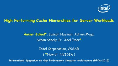 High Performing Cache Hierarchies for Server Workloads