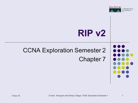 RIP2 CCNA Exploration Semester 2 Chapter 7