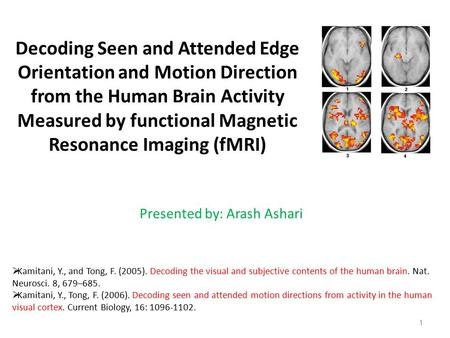 Decoding Seen and Attended Edge Orientation and Motion Direction from the Human Brain Activity Measured by functional Magnetic Resonance Imaging (fMRI)