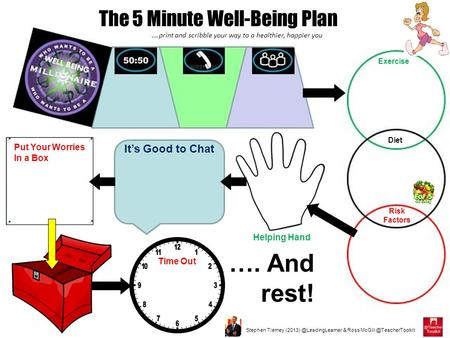 Stephen Tierney & Ross The 5 Minute Well-Being Plan ….print and scribble your way to a healthier, happier.