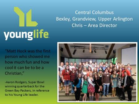 Committee Introduction to Young Life  Introducing