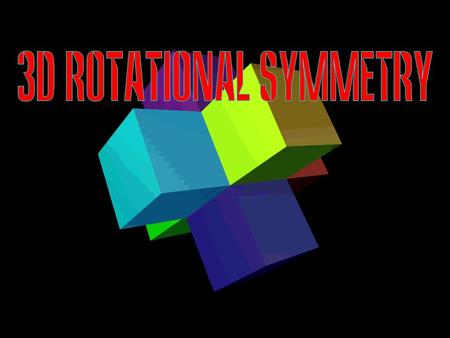 © T Madas. We can extend the idea of rotational symmetry in 3 dimensions: