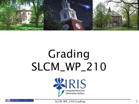 Grading SLCM_WP_210 SLCM_WP_210 Grading1. Introduction Unit 1- Class Rolls Unit 2 – Grade Submission Unit 3 – Other Processes Course Summary Course Content.