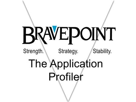 Strength. Strategy. Stability. The Application Profiler.