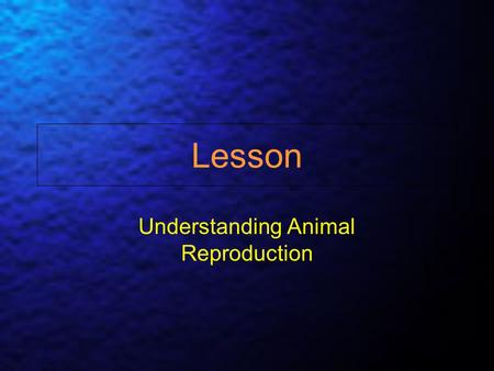 Understanding Animal Reproduction