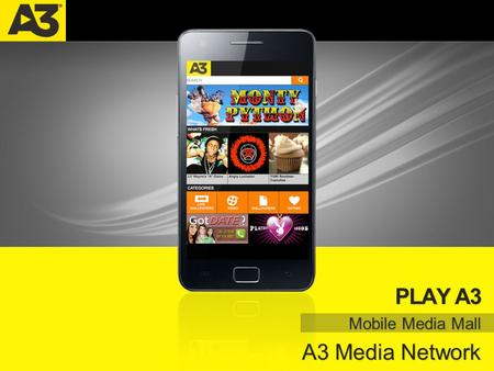PLAY A3 | A3 MEDIA NETWORK PLAY A3 Mobile Media Mall A3 Media Network.