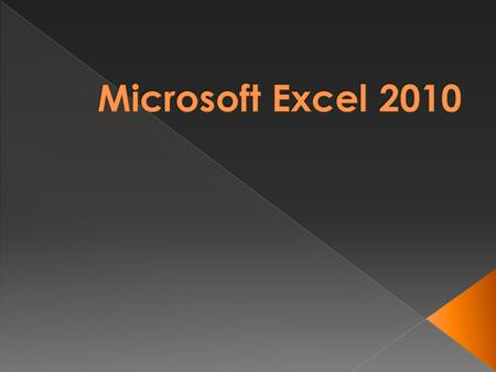  Microsoft Excel is an electronic spreadsheet.  As with a paper spreadsheet, you can use Excel to organize your data into rows and columns and to perform.