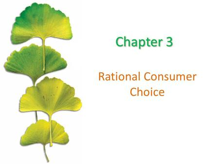 Rational Consumer Choice. Chapter Outline The Opportunity Set or Budget Constraint Budget Shifts Due to Price or Income Changes Consumer Preferences The.