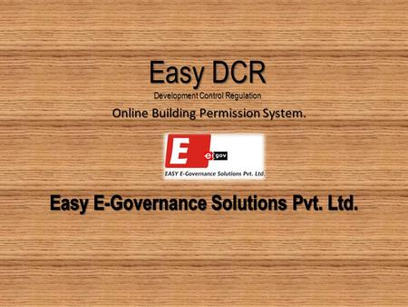Easy DCR Development Control Regulation Online Building Permission System.