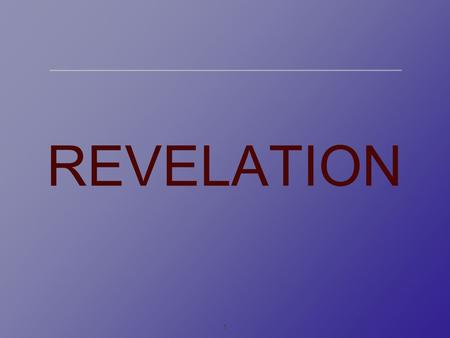 1 REVELATION. 2 OCR A2 Philosophy of religion Specification on revelation.