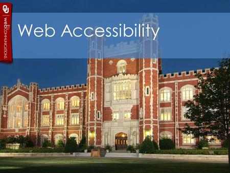 Web Accessibility. Accessibility Webaim This is a pretty prolific site that has a cool little toolbar to install to your bowser. It's called Wave. It's.