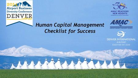 Human Capital Management Checklist for Success. It's All About People!