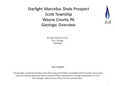 Starlight Marcellus Shale Prospect