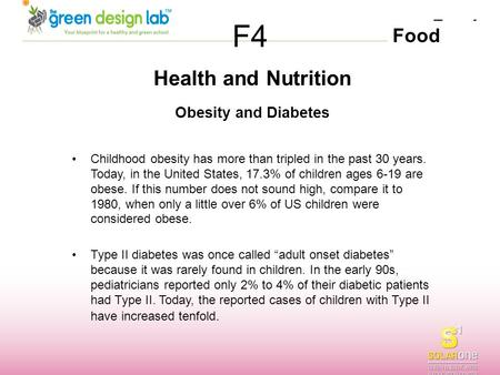 F4 Health and Nutrition Obesity and Diabetes