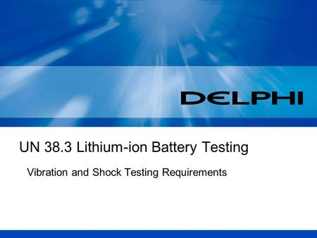 UN 38.3 Lithium-ion Battery Testing