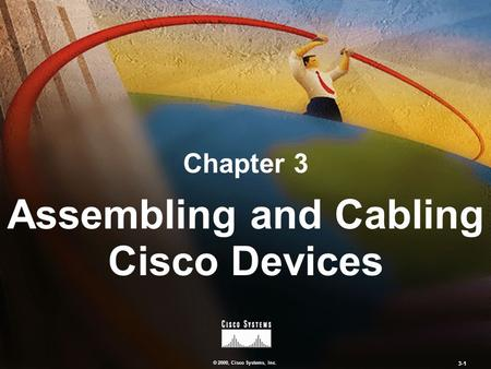 © 2000, Cisco Systems, Inc. 3-1 Chapter 3 Assembling and Cabling Cisco Devices.