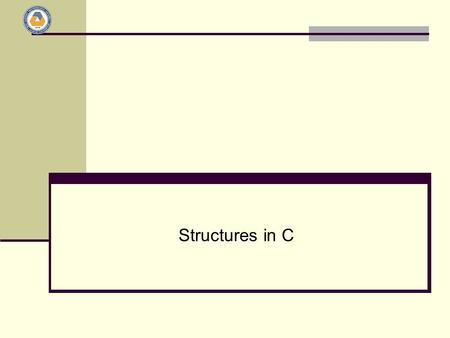 Structures in C.