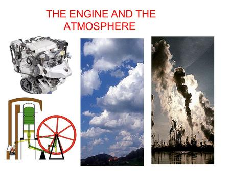 THE ENGINE AND THE ATMOSPHERE. OUTLINE To show the direct relationship between engine emissions and carbon dioxide concentrations in the atmosphere----