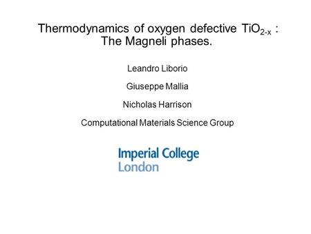 Thermodynamics of oxygen defective TiO2-x : The Magneli phases.