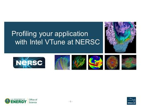 Profiling your application with Intel VTune at NERSC