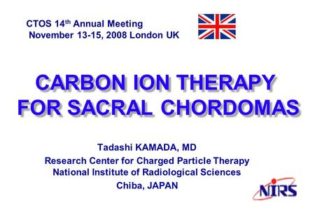 CARBON ION THERAPY FOR SACRAL CHORDOMAS