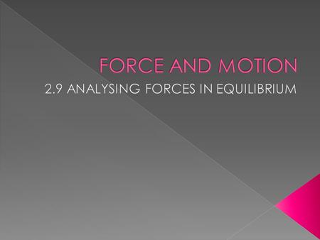  The force that act on the object are balanced in all direction.  The force cancel each other, so that the resultant force or net force is zero.  Newton's.