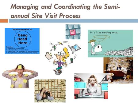 Managing and Coordinating the Semi- annual Site Visit Process.
