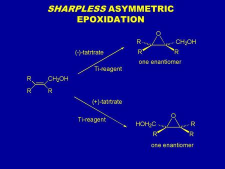 SHARPLESS ASYMMETRIC EPOXIDATION. Chapter 6 ALKYL HALIDES: NUCLEOPHILIC SUBSTITUTION AND ELIMINATION Chapter 6: Alkyl Halides: Nucleophilic Substitution.