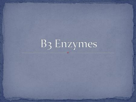 An enzyme is a biological catalyst that speeds up the rate of reactions in biological processes All enzymes are proteins, coded for by genes Enzymes are.