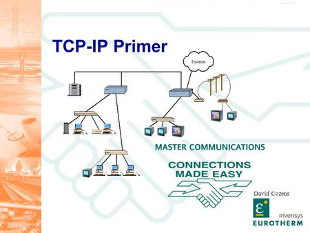 TCP-IP Primer David Cozens. Targets Have a basic understanding of Ethernet network technology Be aware of how this technology is applied on the 5000 series.