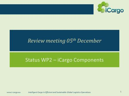 Review meeting 05th December