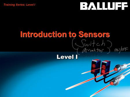 Training Series: Level I Introduction to Sensors Level I.
