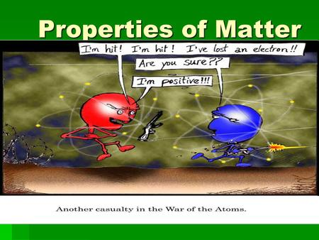 Properties of Matter.