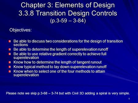 Chapter 3: Elements of Design Transition Design Controls (p