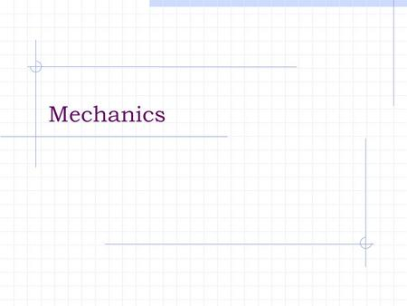 Mechanics. CE 336 Loadings 3 Basic Types of Loadings Static Dynamic Environmental.