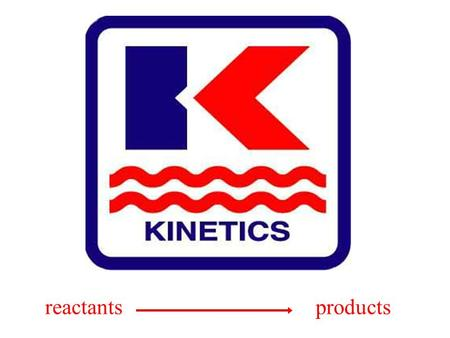 Reactants products. Kinetics Branch of chemistry that studies the speed or rate with which chemical reactions occur. Some reactions do not occur in one.