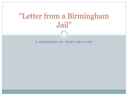 letter from birmingham jail rhetorical analysis everyday use chapters 1 amp 2 review chapter 1 the big 1363
