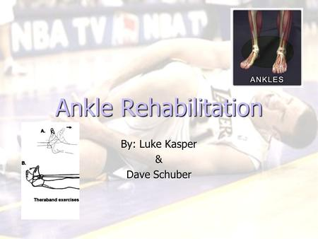 Ankle Rehabilitation By: Luke Kasper & Dave Schuber.