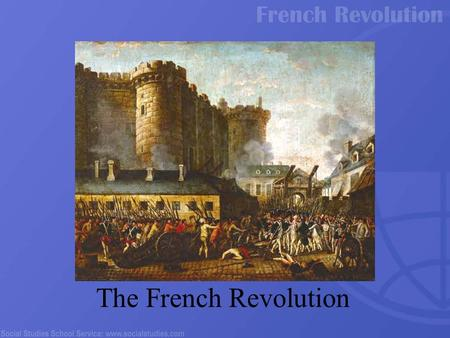 "The French Revolution. Absolute monarchs didn't share power with a counsel or parliament ""Divine Right of Kings"" Absolutism King James I of England."