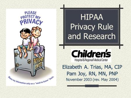 HIPAA Privacy Rule and Research