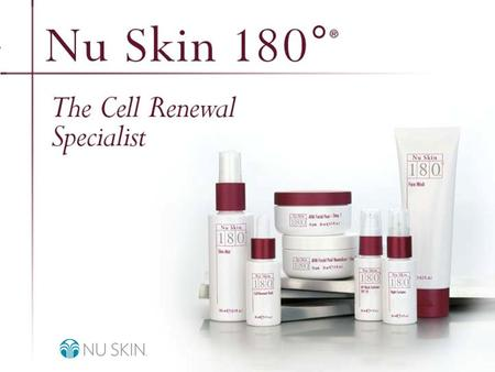 © 2001 Nu Skin International, Inc. Nu Skin 180 ° ® Anti-Aging Skin Therapy System Overview.
